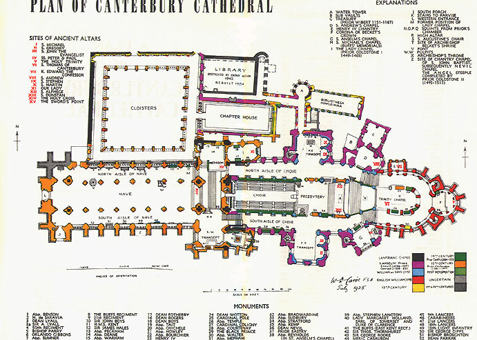 Plan Of Canterbury Cathedral